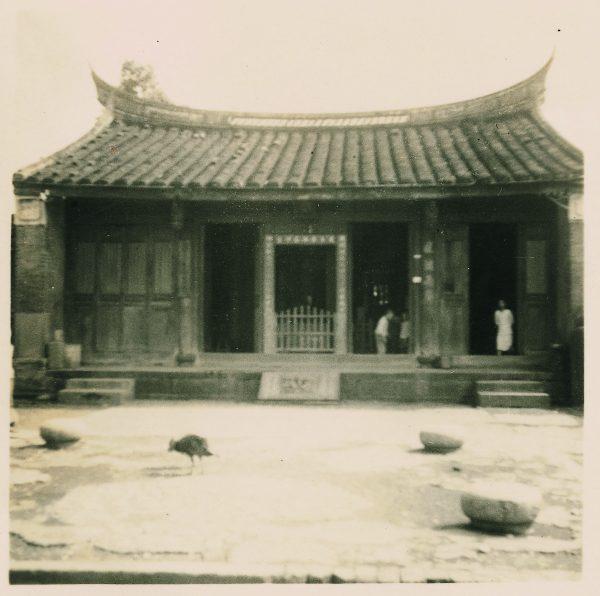 民国43年五谷庙旧照片——宜兰县史馆提供。(宜兰文化局提供)