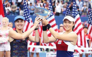 美网女双决赛完胜 詹咏然夺首个大满贯冠军