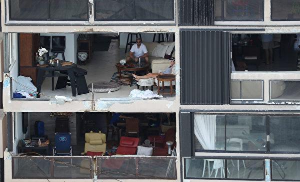 房屋遭严重破坏。(Joe Raedle/Getty Images)