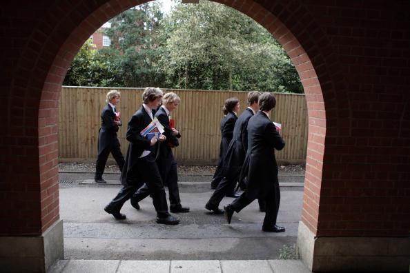 伊顿的学生们。 (Christopher Furlong/Getty Images)