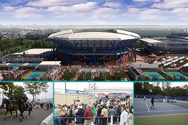 美網球公開賽場外 一道「真善忍風景線」