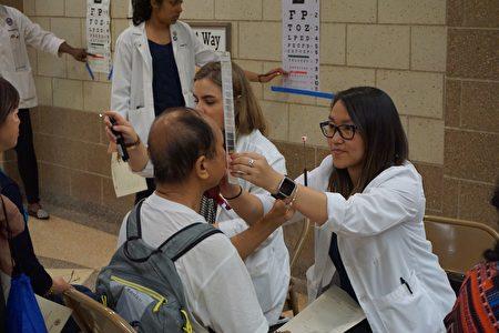 伊州眼科学院將免費提供視力檢查。(王松林/大紀元)