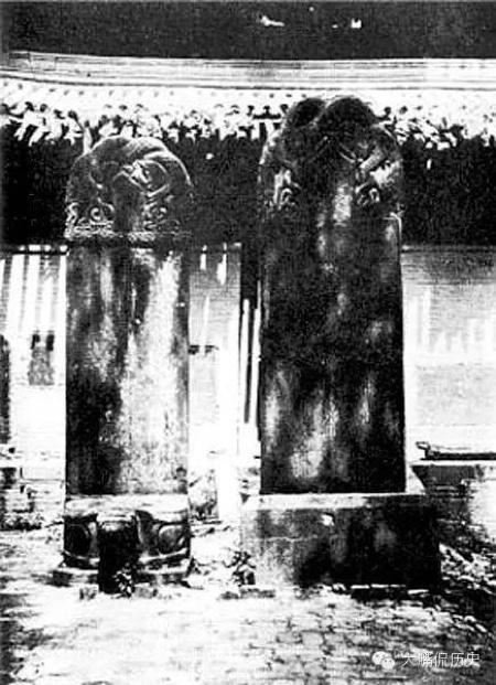 唐太宗御賜的碑,上面的字都看不清了。(公有領域)