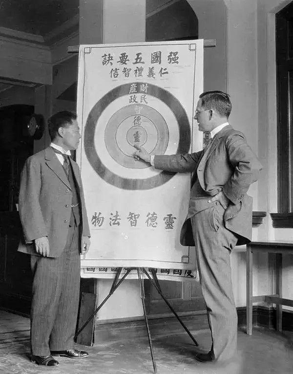 中国民间的强国诉求,摄于1917-1919之间。(甘博/公有领域)