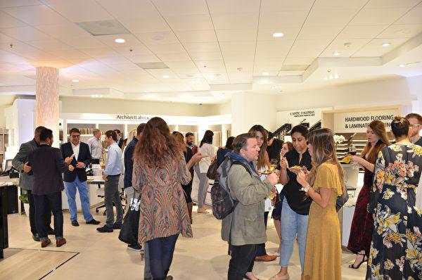 舊金山Porcelanosa展廳新裝修慶祝晚會,現場嘉賓如雲。(大紀元\章德維)