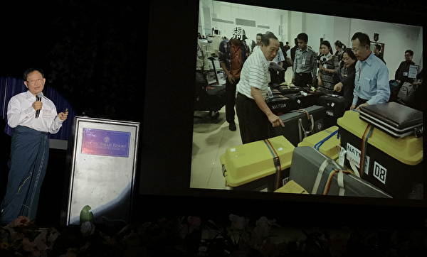 沈裕明牙医师(Dr. Jimmy Shern)在分享赴缅甸义诊经历。(张岳/大纪元)