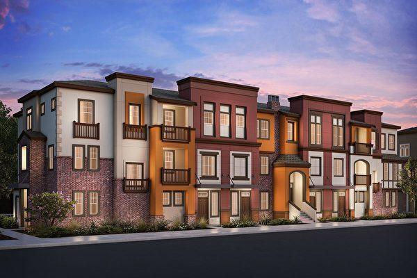 San Jose新房,KB home开发的Apex at Berryessa Crossing小区。(湾区房地产经纪Li Jin提供)