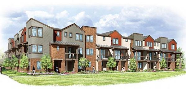 Sunnyvale新房,Landsea Holdings 开发的The Vale小区。(湾区房地产经纪Li Jin提供)