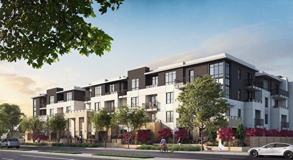 Mountain View新房,Regis Homes開發的101 West小區。(灣區房地產經紀Li Jin提供)
