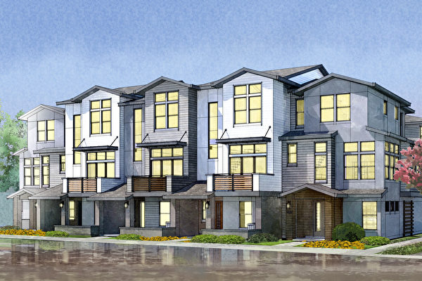 Mountain View新房,Dividend Homes開發的Sierrapoint小區。(灣區房地產經紀Li Jin提供)