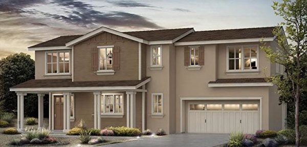 Mountain View新房,SummerHill Homes開發的The Residences at Whisman小區。(灣區房地產經紀Li Jin提供)