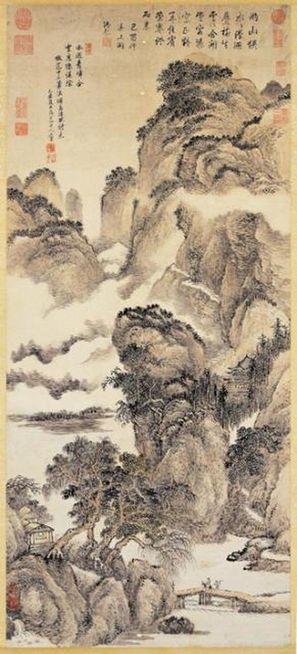 清王翚画孟浩然诗意,现藏台北故宫博物院。(公有领域)