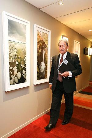 「造王者」新西蘭優先黨黨魁溫斯頓•彼得斯(Winston Peters)。(Hagen Hopkins/Getty Images)