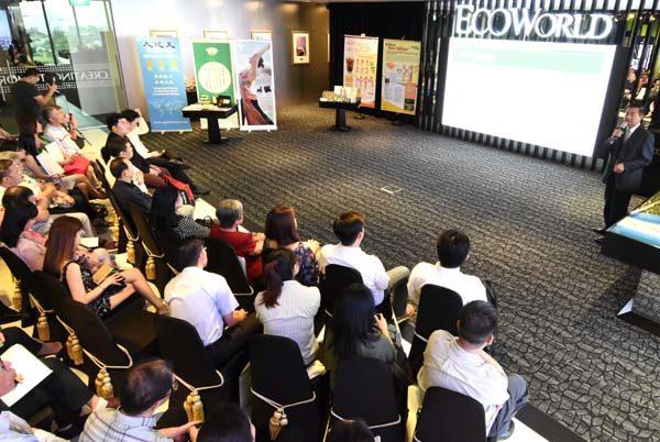 來自香港、馬來西亞、印尼及新加坡等地的商家出席了說明會。(明國/大紀元)