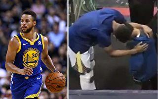 男孩失去爸爸 NBA巨星科里赛前安慰 温馨影片热传