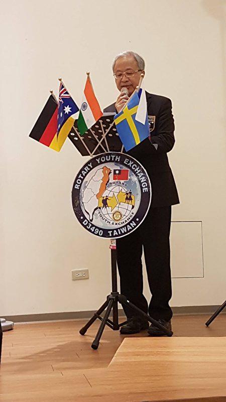 国际扶轮3490地区谢汉池总监。(国际扶轮3490提供)