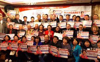 社區領袖挺陳倩雯:市議會華裔僅兩席、不可丟