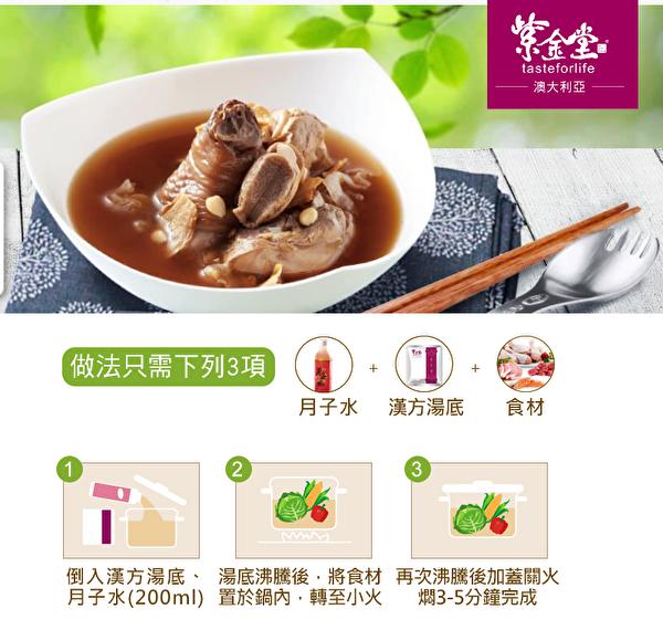 紫金堂,台湾第一月子餐品牌已登陆澳洲,为华人妈咪提供服务。(紫金堂提供)