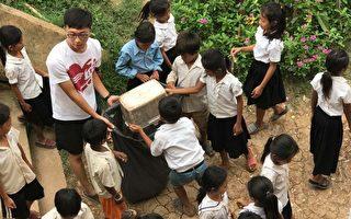台湾大学生乐当志工 前进柬埔寨送爱给儿童
