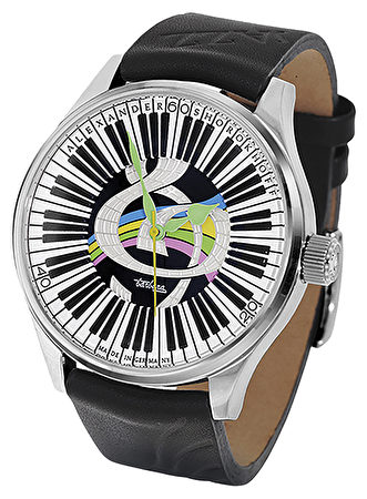 「甘菊」腕錶(Alexander Shorokhoff品牌提供)