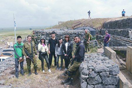 學生至戈蘭高地,聽見敘利亞爆炸聲及槍聲。(人文無學籍行動高中提供)