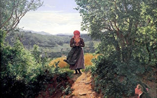 和現代人沒兩樣!19世紀油畫出現時空旅行者?