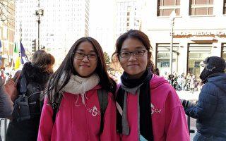 芝加哥感恩节游行 义务精神触动华人学生
