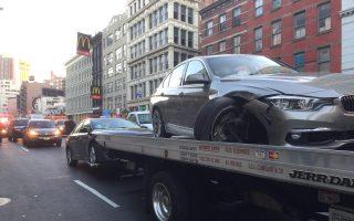 華埠堅尼街四車連撞事故 無人受傷