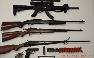 漢密爾頓警方查獲5條槍 逮捕23歲男子