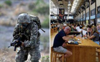 军人带妻儿去餐馆 小男孩的举动让他永生铭记