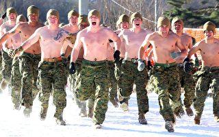 美韓海軍陸戰隊軍演 零下20°C打赤膊冬訓