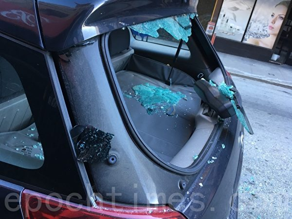 舊金山砸車窗玻璃盜竊頻發