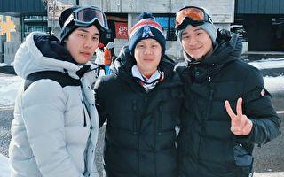 周兴哲全家赴北海道四天 三兄弟滑雪展英姿