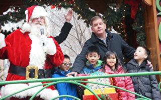 市長華埠點燈拉開聖誕序幕
