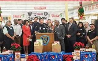 助貧困戶溫馨過節 警方Fiesta超市內食品募捐