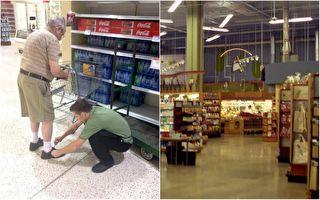 店員彎腰幫老人綁鞋帶 一張照片感動近20萬人