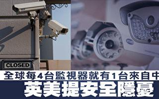 全球每4台監視器就有1台來自中國 英美提安全隱憂
