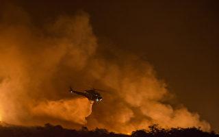 组图:六场野火肆虐南加 逾21万人疏散
