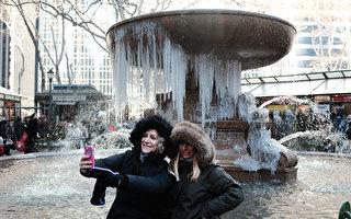 冰天雪地迎新年 北美週末遇寒冷天氣