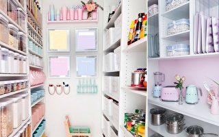 厉害!澳洲贤妻精明打造梦幻厨房储物间