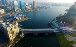 组图:爱河旧铁桥变身人行步道 可与轻轨一起跨越爱河