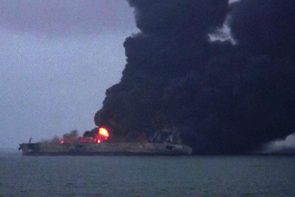 巴拿马籍油轮中国东海撞船后再爆炸 已沉没