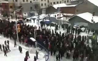 吉林抚松县政府迁学校 上万民众上街抗议