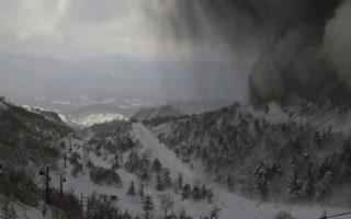 组图:日本草津火山又蠢动 暂停搜救行动