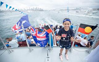 组图:悉尼举办盛大国庆庆典 约50万人狂欢