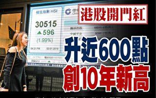 港股新年首日升近600點  創10年新高