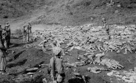 朝鮮戰場真相:中共以人海炮灰戰術造成中國人死傷慘重。(公有領域)