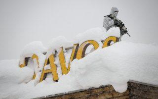 达佛斯论坛遇大雪 直升机也到不了