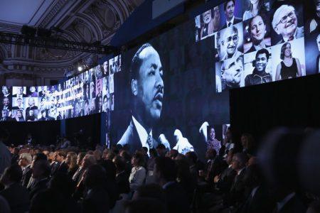 周一纽约各地展开多场纪念马丁·路德·金的活动。