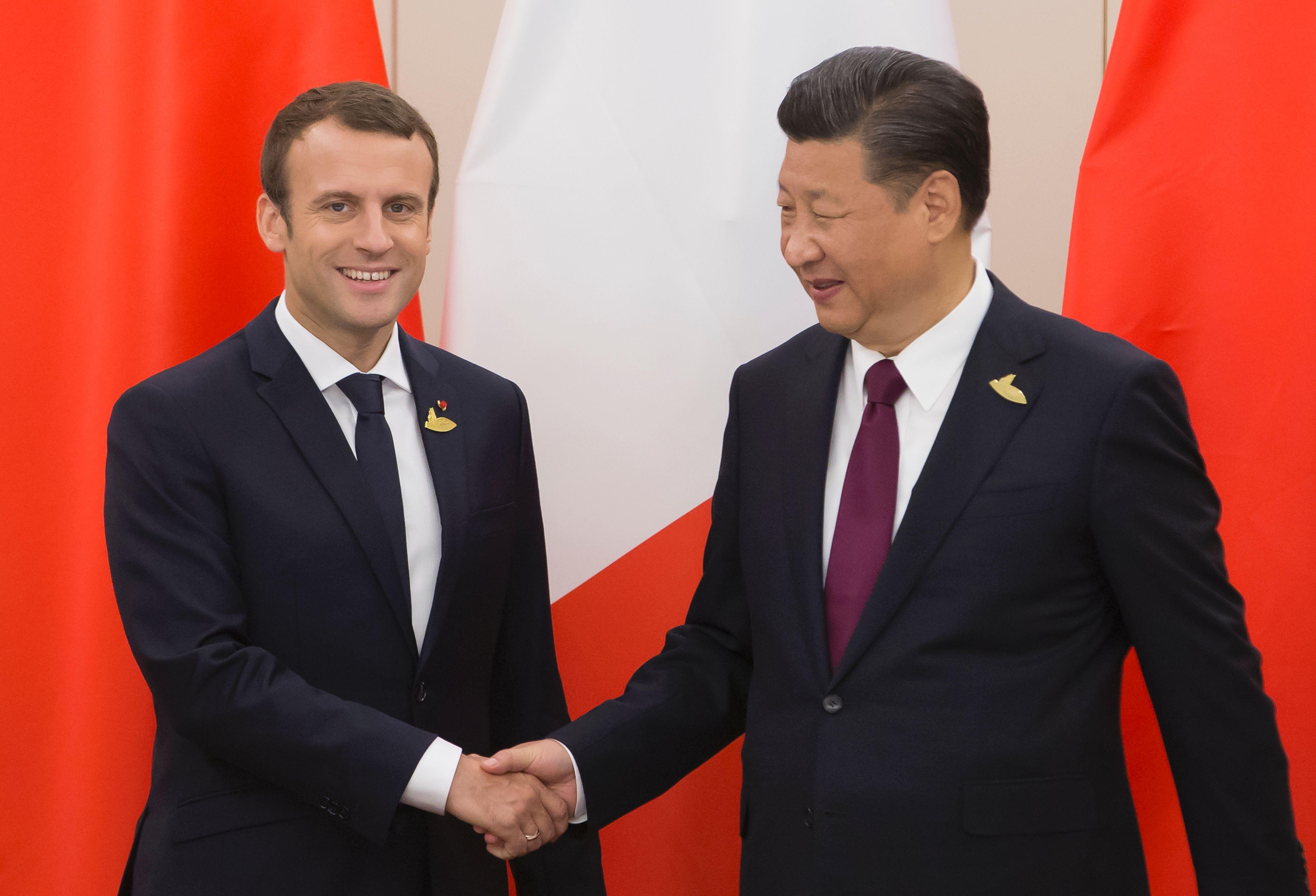 馬克龍告訴習近平:關注港局勢 支持一國兩制